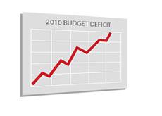 -- U.S. Budget Deficit 2010 - board --