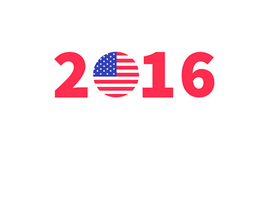 The 2016 Presidential Election - United States of America - Concept - Year - Flag