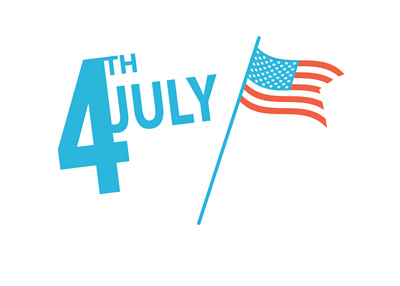 Independence Day - July 4th - United States of America flag - Illustration