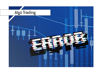 Algorithm trading error - Illustration.