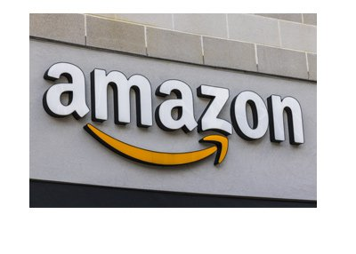 Amazon logo on the storefront in the United States of America.