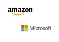 Amazon and Microsoft - Company Logos