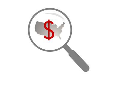 American Finances - Closer Look - Illustration / Concept