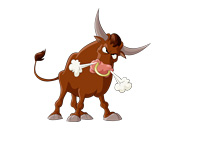 Angry Bull - Illustration - Stock Market