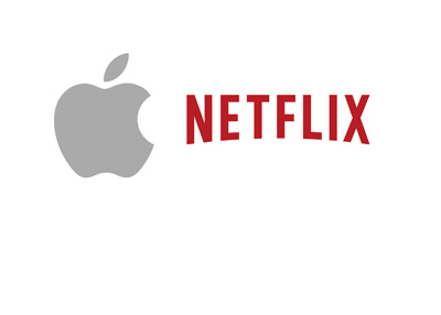Apple and Netflix logos next to one another.  The year is 2017.
