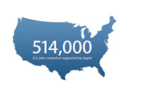 514,000 jobs created by Apple in the United States - Illustration