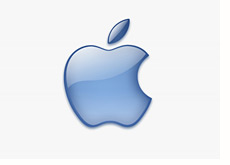 -- blue apple logo - corporate --