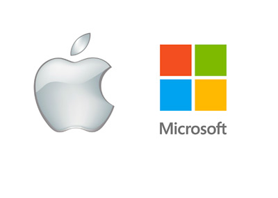 Apple and Microsoft - Company Logos