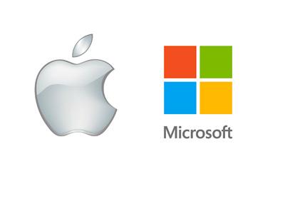Apple and Microsoft - Company Logos
