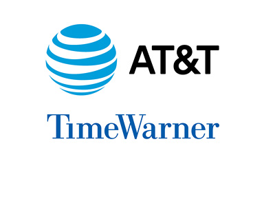 AT&T and Time Warner logos - Year 2016 - Month - October - Buy-out