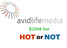avid life media purchases hot or not for 20 million dollars