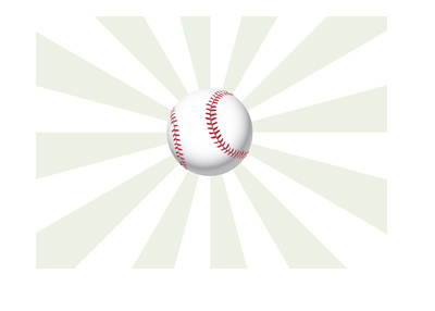 The sport of baseball illustrated - Ball in flight.  Green hypnotising background.