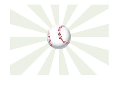 The sport of baseball illustrated - Ball in flight.  Green hypnotising background.