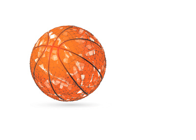Basketball illustration in vector dot style.