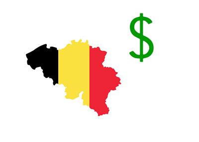 Belgium and US Dollar - Illustration