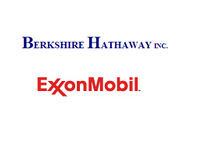 Berkshire Hathaway Inc. and Exxon Mobil logos