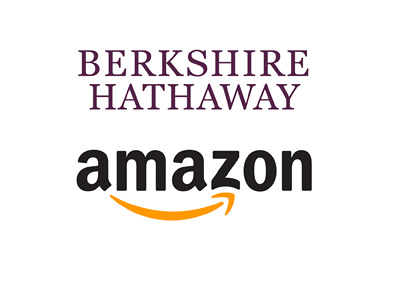 Berkshire Hathaway and Amazon - Company logos - Year 2016