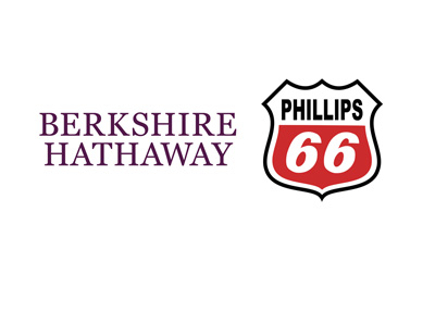 Berkshire Hathaway and Phillips 66 company logos