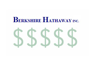 Berkshire Hathaway logo on top of dollar signs