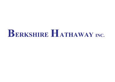 Berkshire Hathaway Inc. company logo - Blue colour - 400 pixels wide