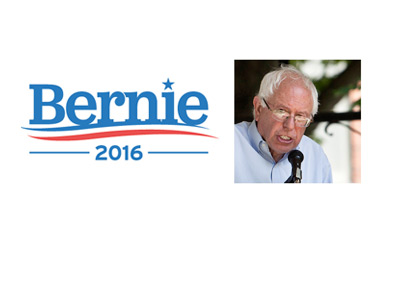 Bernie 2016 - Running for president of USA - Logo and photo