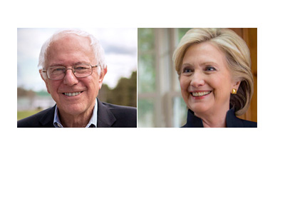 Bernie Sanders vs. Hillary Clinton - Presidential Elections 2016 photos