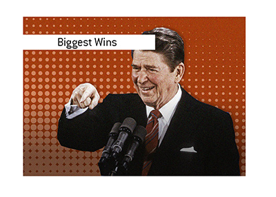 The biggest elections win in the United States of America - Ronald Reagan in picture.