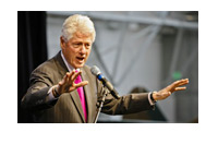 Bill Clinton giving a speach