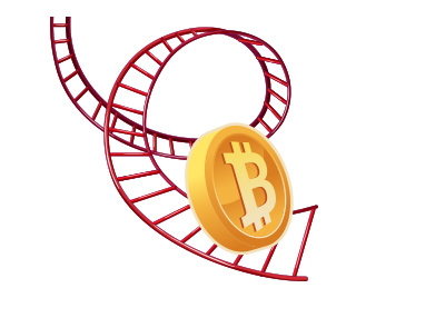 The Wild Bitcoin Rollercoaster Ride - Drawing / Illustration.