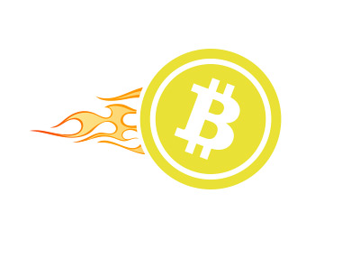 Bitcoin Blazing Forward - Illustration