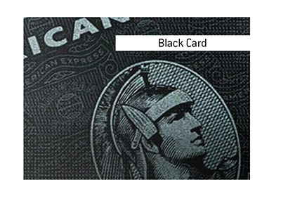 Pictured is the first and most popular black card is the American Express Black Card.