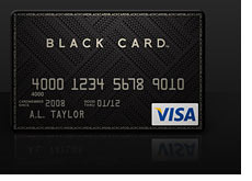 new black visa card