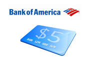 Bank of America $5 Bank Card Fee - Illustration