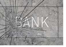 -- broken bank sign - bank failure --