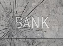 -- broken bank sign - bank failure --