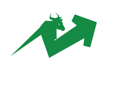 The illustration / concept of a bull stock market. Green colour.