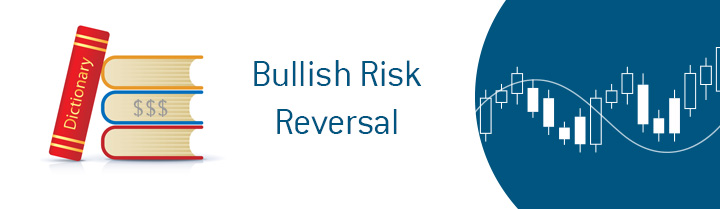 The explanation of the term Risk Reversal by Dave Manuel.  In photo: candle chart.