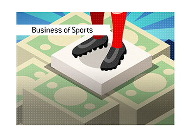 The business of sports.  Illustration.