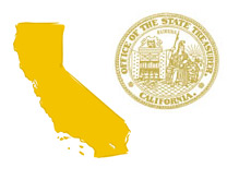 -- California Map - Office of State Treasurer Seal --