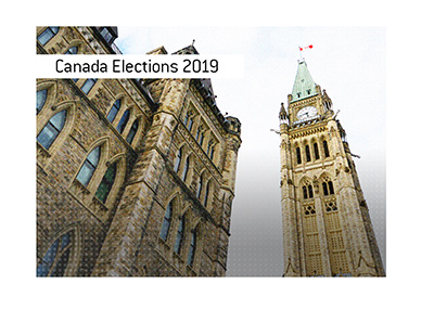 Parliament Hill in Ottawa, Canada.  Canadian elections are coming up.  Who will win?