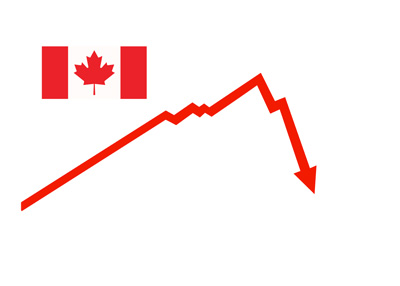 Canada has entered a recession - Illustration