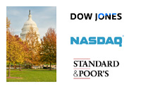 Capitol Hill - Autumn - Dow Jones, Nasdaq and Standard & Poor logos