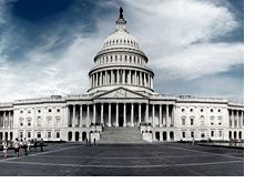 -- Capitol Hill - Washington - Cloudy day --