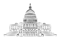 The Capitol Hill - Washington D.C. - Illustration