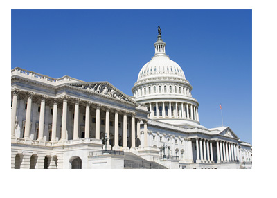 United States Congress Building - Capitol Hill - Side view on a sunny day - Photo