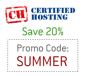 CH - Certified Hosting - Promo Code - Summer - 20% Off