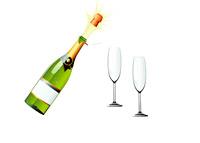 Champagne Pop - Celebration - Illustration