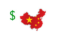 U.S. Dollar and map of China - Illustration