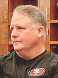 Chip Kelly in the dressing room of NFL team San Francisco 49ers