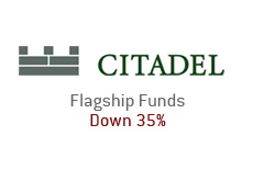 citadel investment group - flagship funds are down 35 percent... company logo